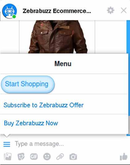 Zebrabuzz's E-commerce in Messenger