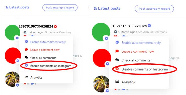Enable or Delete Comments on Zebrabuzz Business Feature for Instagram