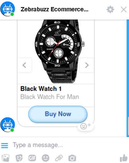 e-commerce in Messenger chatbot