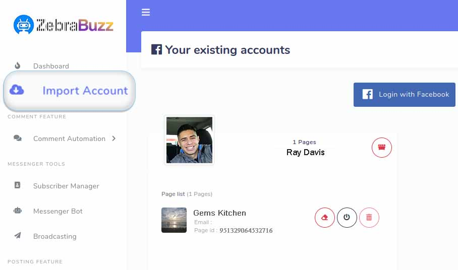 How to Connect Facebook Account - E-commerce in Messenger