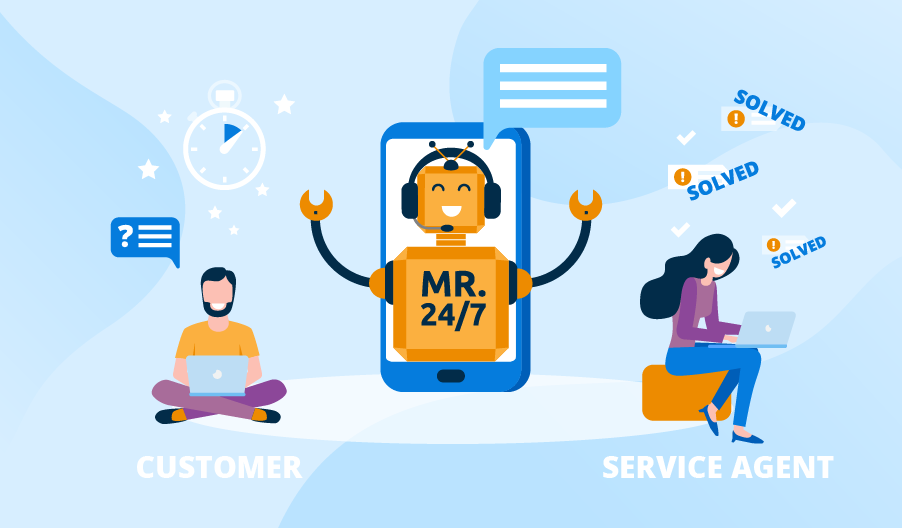 Chatbots Improve Customer Service by being available 24/7