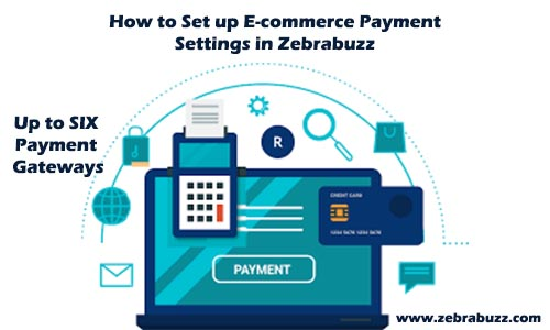 How to Set up e-commerce payment settings in Zebrabuzz