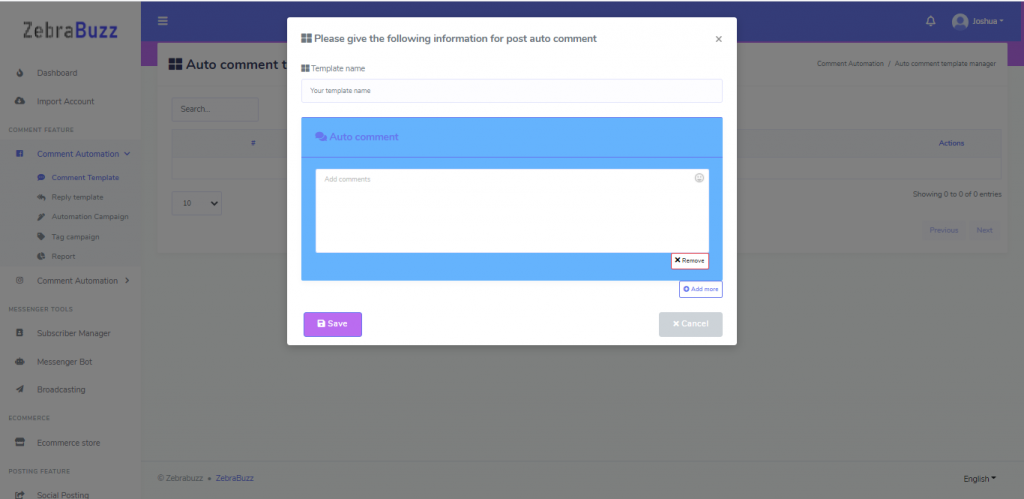 How to Use Zebrabuzz's Comment Automation Feature
