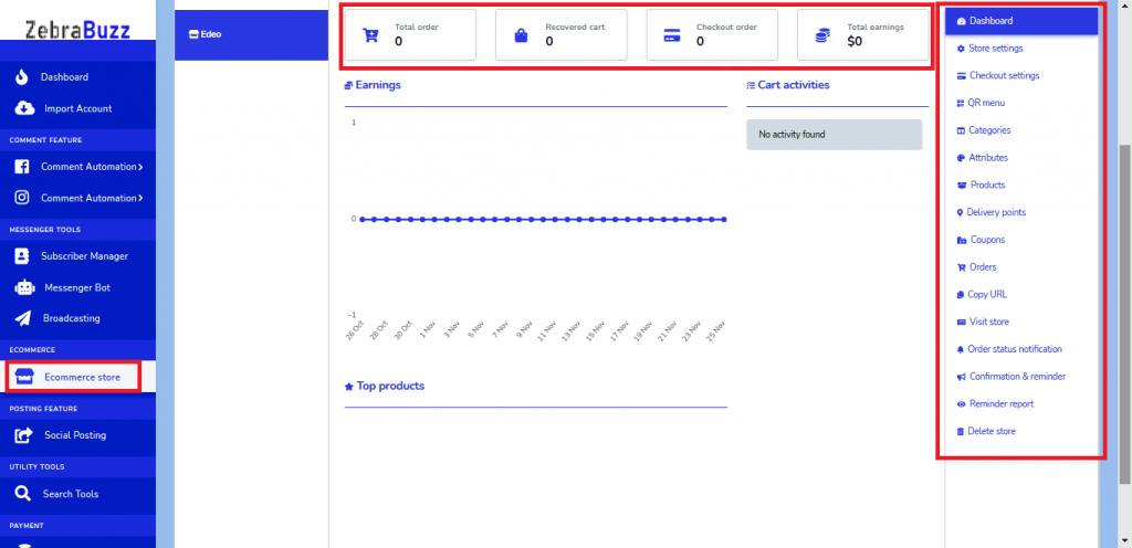 QR menu chatbot