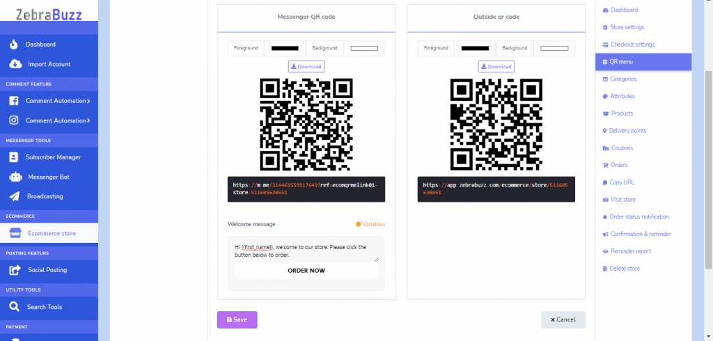 How to Create a QR Menu for your Food Ordering Chatbot