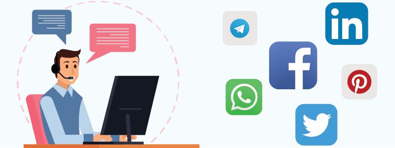 roles of social media in customer service